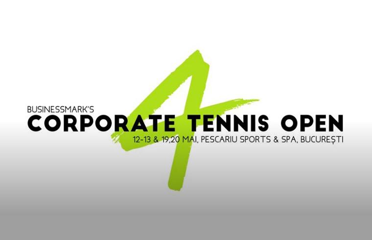 Corporate Tennis Open 4 - Pescariu Sports & Spa București 12-13 mai 2018 & 19-20 mai