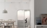 Un birou capsulă care se integrează în orice locuinţă Proiectul s-a nascut ca raspuns la provocarile