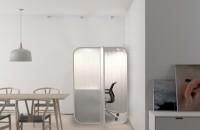 Un birou capsulă care se integrează în orice locuinţă