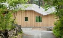 Casa pe muntele Fuji adaptata conditiilor de clima