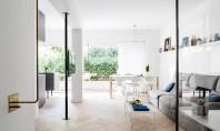 Trucuri folosite pentru optimizarea spațiului într-un apartament Apartamentul este amplasat intr-o cladire in stil Bauhaus de