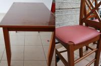 Înainte și după. O înfățișare nouă pentru o masă și patru scaune vechi