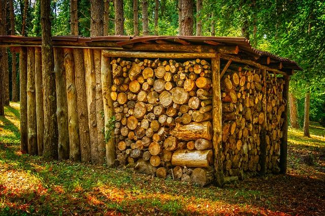 Spatiu de depozitare lemne de foc