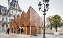 Pavilion finisat cu 180 de usi reciclate