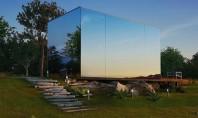 O casă modulară cu fațada din oglindă ce se asamblează în doar 8 ore Proiectata de