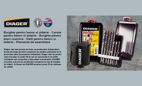 DIAGER (Franta): gama completa de burghie si carote