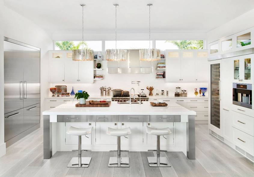 Inspirație pentru bucătării minunate în alb și gri