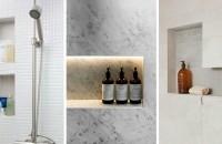 Idei pentru rafturi încastrate în zona dușului