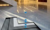 Sistem rapid pentru montajul plăcilor din piatră naturală care se pot păta de la umiditate Datorită
