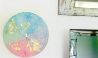 Un ceas parca pictat cu tempera Proiectul de astazi va propune un ceas decorativ frumos ornamentat