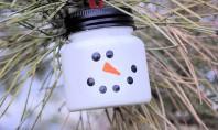 De la borcan la om de zăpadă Un proiect de bricolaj pentru Craciun pe care il