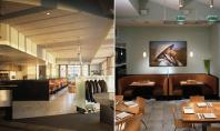 Restaurantul the Slanted Door combinatie de lemn si metal Olle Lundberg este recunoscut pentru amenajarile de
