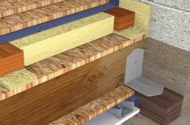 Termoizolarea si fonoizolarea cu vata de sticla URSA a unui planseu pe structura de lemn