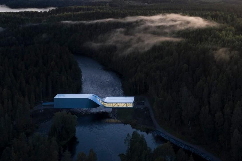 Cel mai nou muzeu din Norvergia este în același timp un pod peste râu