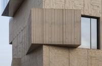Muzeul Fundatiei Tchoban, o cladire cu fatada din beton desenata la mana