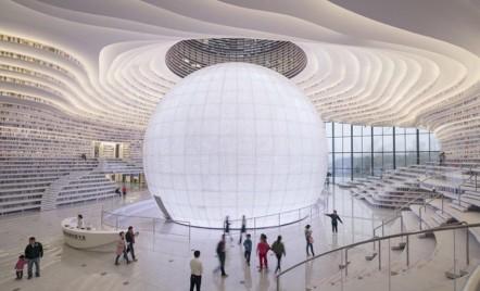 Noua bibliotecă futuristă a Chinei, diferită de orice altă bibliotecă