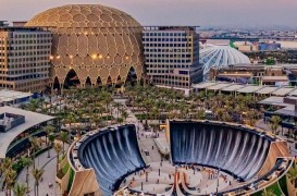 """O cascadă """"ireală"""", una dintre principalele atracţii ale Expo 2020 Dubai (Video)"""