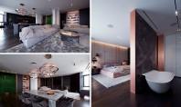 Accentele de cupru dau o notă caldă acestui apartament Biroul YoDezeen Architects s-a ocupat de renovarea