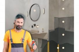 Placare ceramică la pereți în spații umede