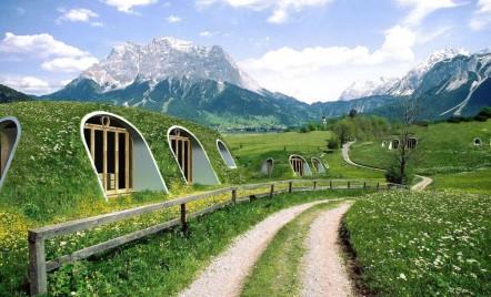 O casa de hobbit gata in doar trei zile