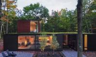O casa cu acoperisuri verzi se ascunde de minune in padure Multe din locuintele placute si