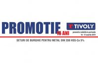 Promotii aniversare de la Unior Tepid - seturi burghie pentru metal TIVOLY