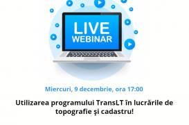 Utilizarea programului TransLT în lucrările de topografie și cadastru - webinar