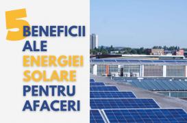 5 beneficii ale panourilor solare pentru afaceri