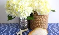 Vaze invelite in sfoara bricolaj de inspiratie nautica Obiectele de inspiratie nautica au un mare avantaj