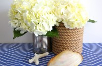 Vaze invelite in sfoara, bricolaj de inspiratie nautica