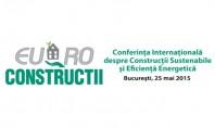Conferinta Internationala despre Constructii Sustenabile si Eficienta Energetica EURO - Constructii Redactia Agenda Constructiilor & Fereastra va invita sa participati în auditoriul Conferintei Internationale despre Constructii Sustenabile si Eficienta Energetica EURO-Constructii 2015.