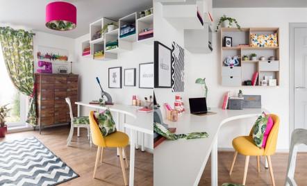 Atât birou, cât și atelier de creație: o amenajare bine realizată
