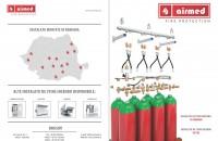 """Sistem de stingere incendii cu gaze inerte (INERGEN) - Mod de functionare  Vom prezenta un exemplu tipic de instalație pentru o cameră server – camera identificata ca """"zonă cu risc mare de incendiu"""". Majoritatea incendiilor"""