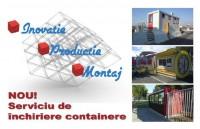 Euro Modul: containere multifunctionale metalice pentru organizari de santiere, birouri, vestiare