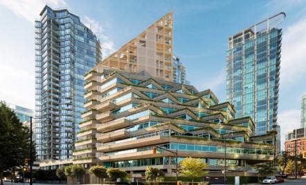 Cea mai înaltă clădire din lemn hibrid, care se mândrește cu cele mai scumpe apartamente din Vancouver, Canada