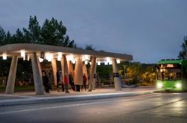 O stație de autobuz concepută pentru regiunile cu climă rece