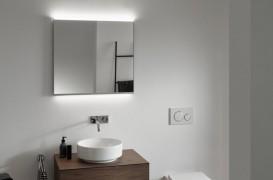 Oglinzi cu iluminare şi dulapuri cu oglinzi. Lumina difuză pentru rutina zilnică