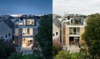 Locuință urbană compactă pentru o familie cu copii cu acoperiș verde Construita pentru o familie cu