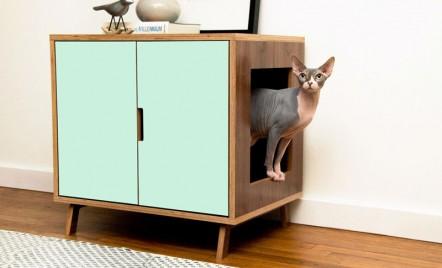 Dulăpioare moderne create pentru a ascunde cutia cu nisip a pisicii tale