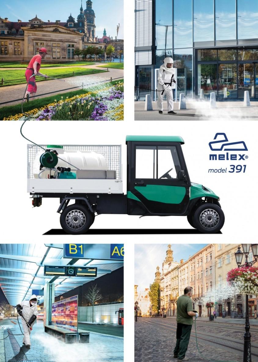 Autocisterna electrică Melex – 500 litri. 100% ecologică, economică, silențioasă