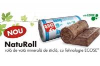 NatuRoll - rola de vata minerala de sticla, cu tehnologia ECOSE