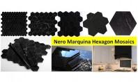 Mozaic din marmura neagra patru exemple de amenajari Un produs nou in oferta PiatraOnline mozaicul hexagonal