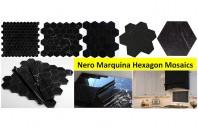 Mozaic din marmura neagra: patru exemple de amenajari