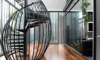 Exemple de scări elicoidale ce înfrumusețează orice casă Scarile in spirala sau elicoidale sunt preferate datorita