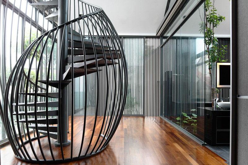 Exemple de scări elicoidale ce înfrumusețează orice casă