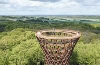 Un turn spiralat în mijlocul pădurii oferă priveliști care îți taie respirația (Video)