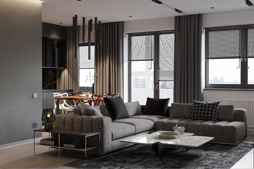 Nuanța de gri îți poate aduce mai multă liniște în casă