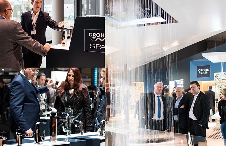 Noul concept al standului GROHE prezinta compania ca un furnizor de solutii complete pentru baie
