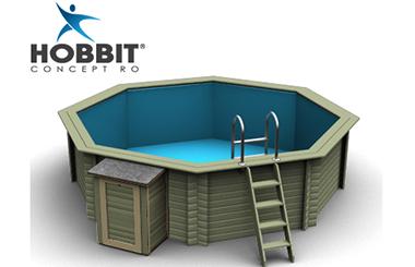 Noile piscine supraterane din lemn de la HOBBIT CONCEPT RO