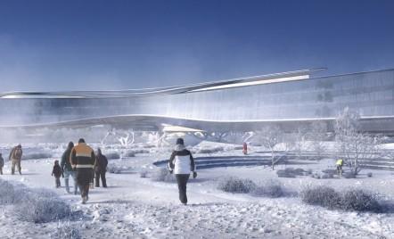 Zaha Hadid Architects construiește o clădire ca o navă spațială în Silicon Valley-ul rusesc